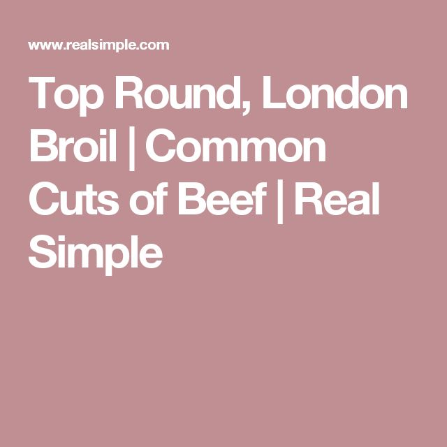 Top Round, London Broil | Common Cuts of Beef | Real Simple