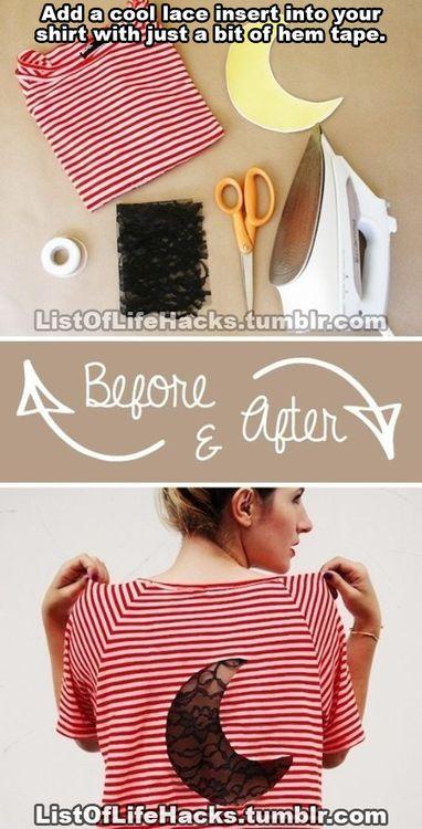 Easy clothing insert design