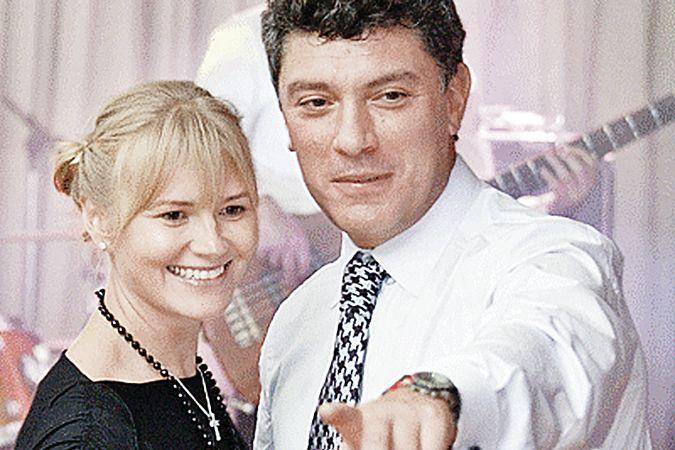 Борис  Немцов  и  Ирина  Королева,  мать  его  ребенка.