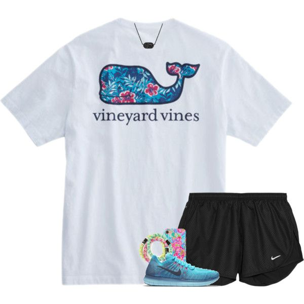 A fashion look from March 2017 featuring NIKE activewear shorts, NIKE athletic shoes и Kendra Scott necklaces. Browse and shop related looks.