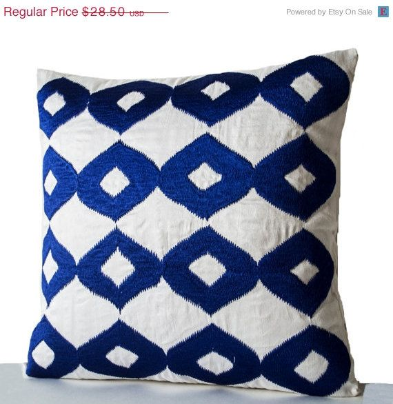 valentine sale decorative throw pillow royal blue by amorebeaute