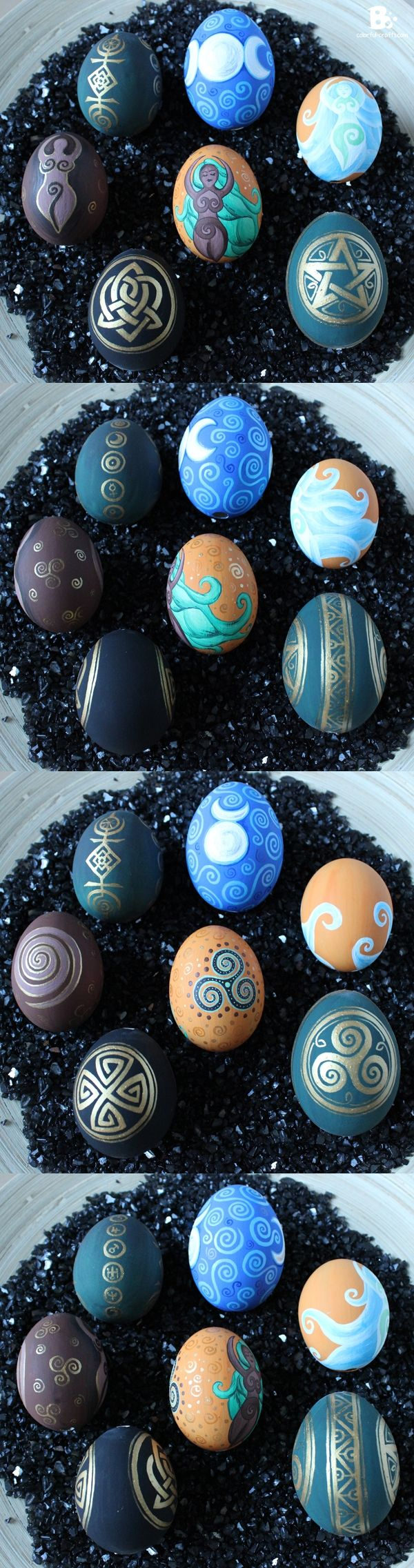 Amazing Ostara Easter eggs. Check out Colorful Crafts for more amazing crafts! (Favorite Pins Eggs)