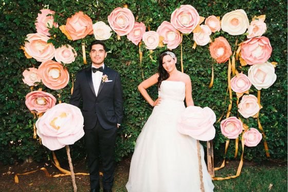 DIY Paper Flowers From Handmade By Sara Kim Wedding Simple Weddings And Fl