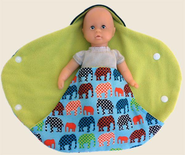 Free pattern couverture nomade pour bébés prématurés et poupons