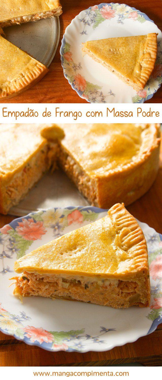 Empadão de Frango com Massa Podre - Youtube #receita #empadão #torta #frango