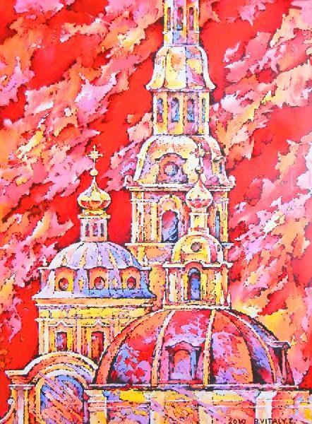 Санкт Петербург, живопись, пейзаж, город