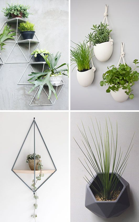 Here are 10 examples of stylish and modern wall mounted planters that will help you get your plants off your surfaces and onto your walls.