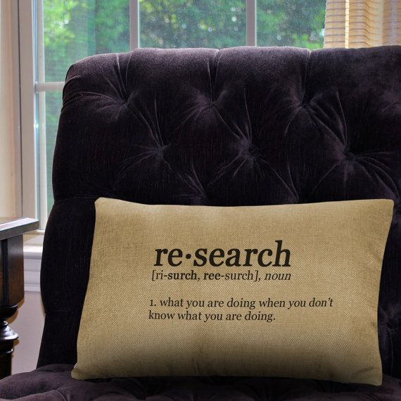 Research Definition Pillow Cover 12 x 18 by NeuronsNotIncluded