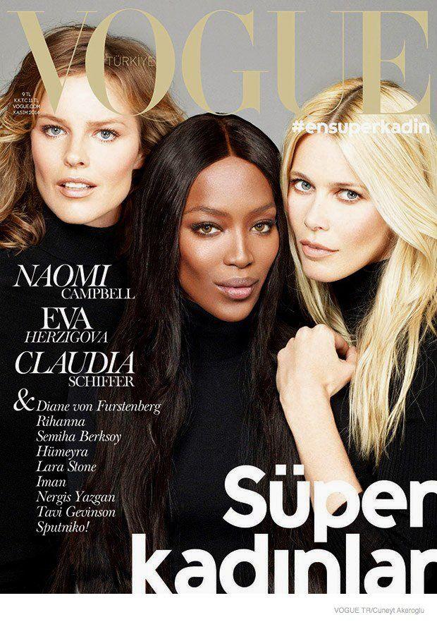 Naomi! Claudia! Eva! Vogue Turkey Taps Supermodels for November 2014 Cover