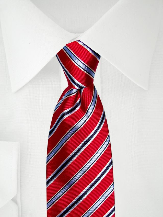 Rote Krawatte mit blauen Streifen