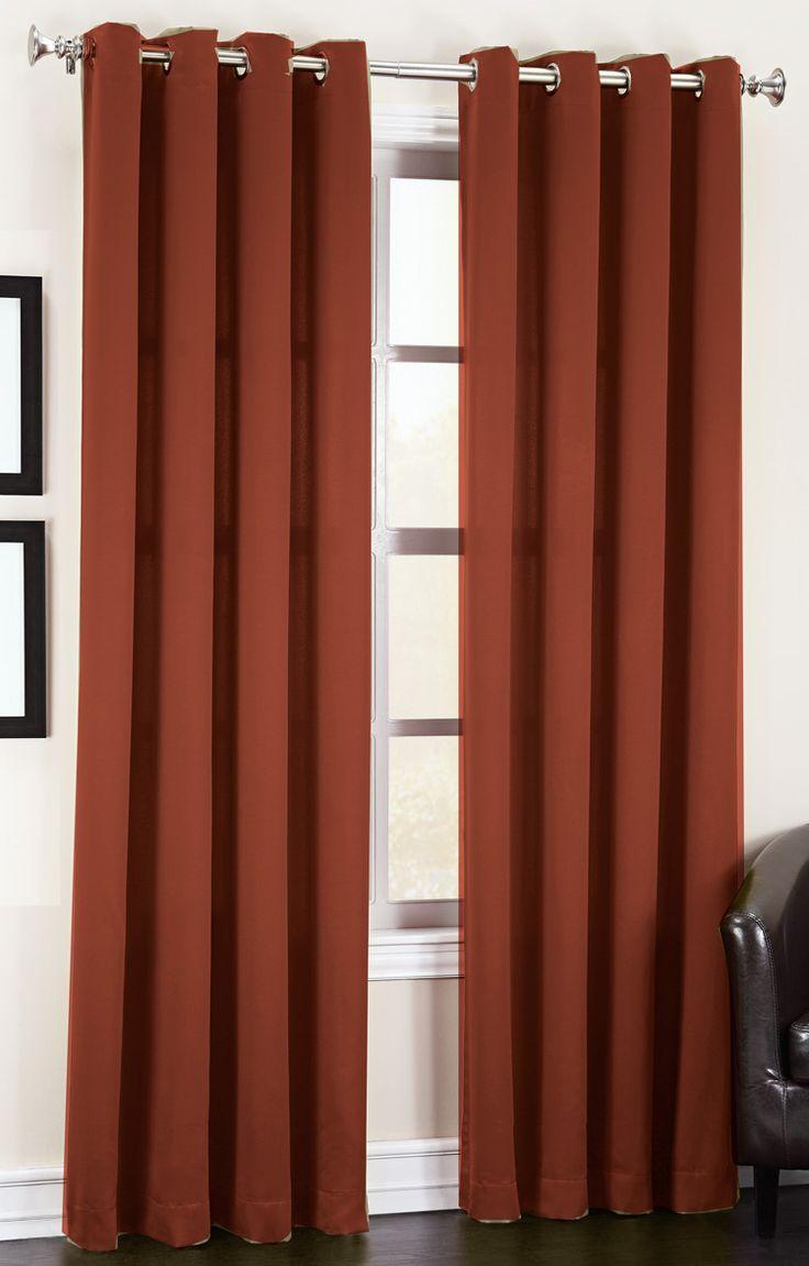 Madison Room Darkening Grommet Curtains – Brick