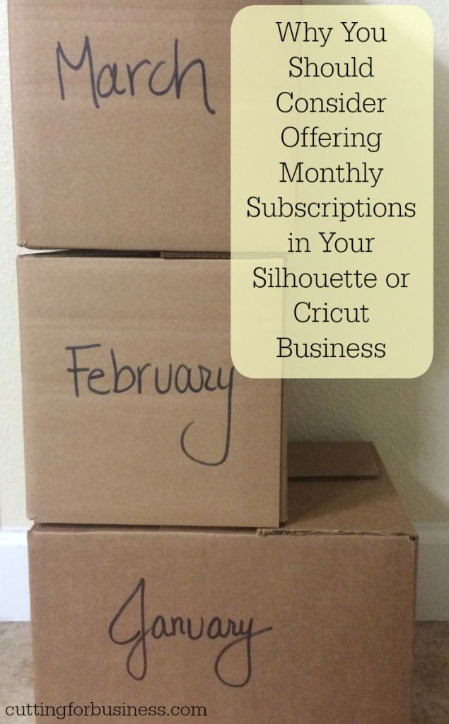 How to Offer Subscription Products or a Product of the Month Club in Your Silhouette or Cricut Crafts Business by cuttingforbusiness.com