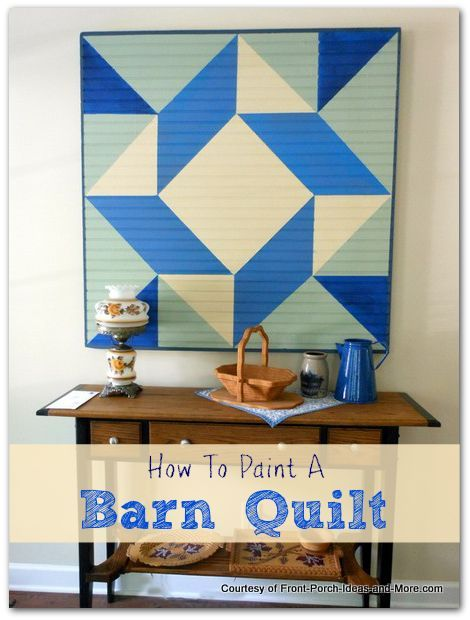 Tutorial to paint a barn quilt on bead board or plywood for a unique indoor decorative handmade gift - or just to keep.