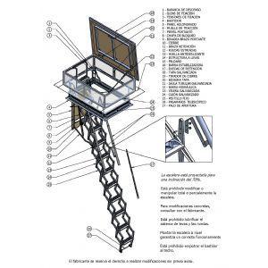 Escalera_plegable_FLEXA Escaleras_Plegables_y_Escamoteables Escalera plegable Flexa Terraza Automática