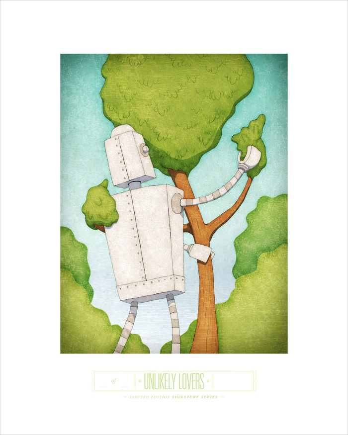 UNLIKELY LOVERS - 8x10 archival print - signed & numbered from rawtoastdesign