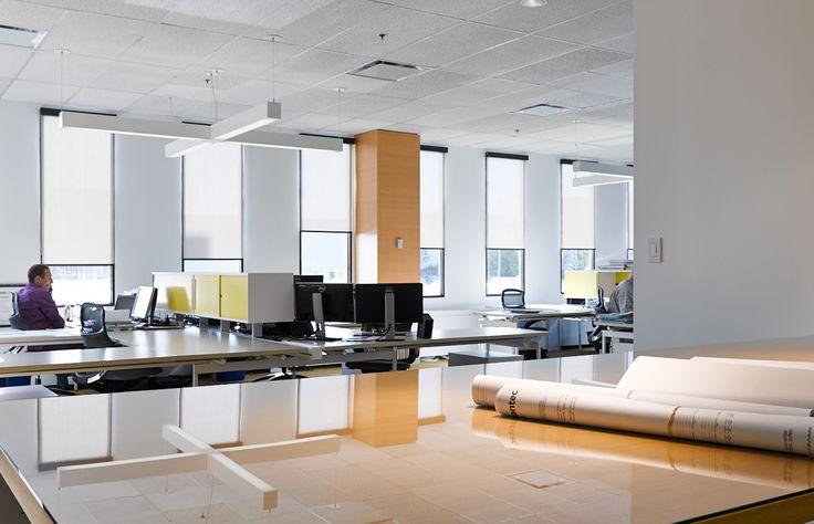 From scratch to star.  Stantec new office in Montreal.  Crédit photo: Louis Prud'homme. http://www.stantec.com/fr/en-savoir-plus-sur-nous/montreal-quebec-site.html