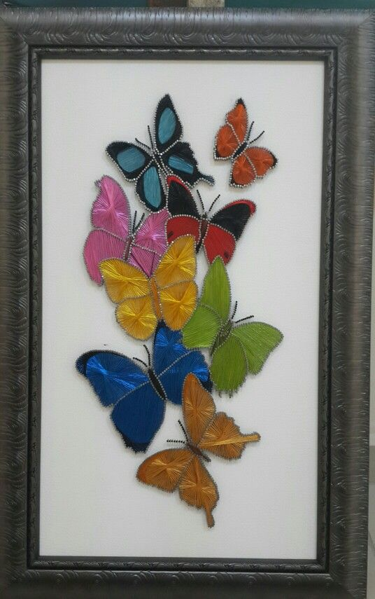 Butterfly string art