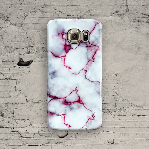 Marble Samsung Galaxy Case, White Galaxy S6 Case, Red Marble Galaxy S6 Edge, Galaxy S6 Edge Plus, S3 S4 S5 Note 3 4 5 Cool Granite Cover