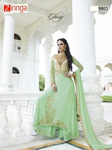 CHAHAT CREATIONS-Women's Beautiful Georgette Salwar Kameez - 9803