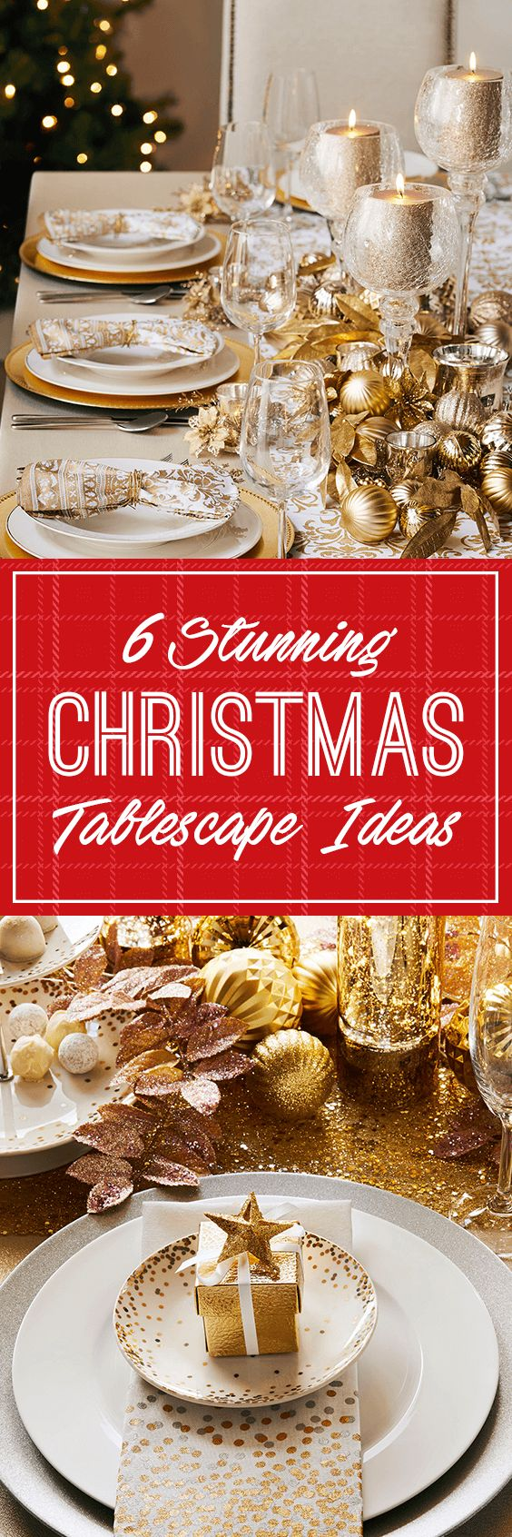 6 Stunning Christmas Tablescape Ideas from Kitchen Stuff Plus
