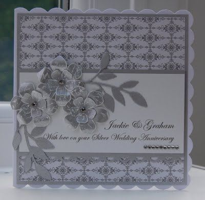 Julie's Japes - A Top Independent Stampin' Up! Demonstrator in the UK: Silver wedding card and present