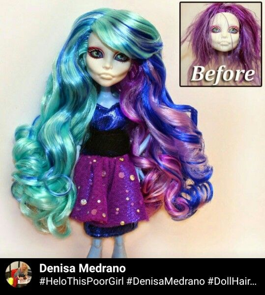 Spectra, went to the monster high, ever after high, hair expert for the dolls Denisa Medrano