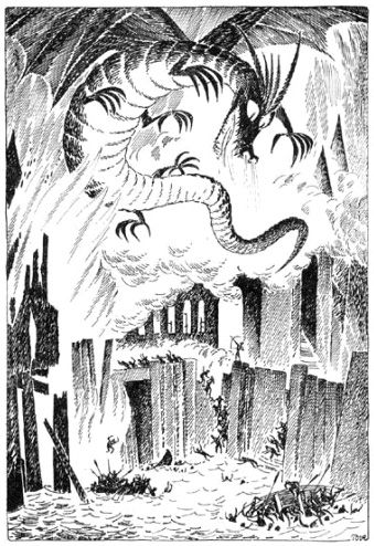 Tove Jansson - Vintage Illustrations for Tolkien's The Hobbit from Around the World