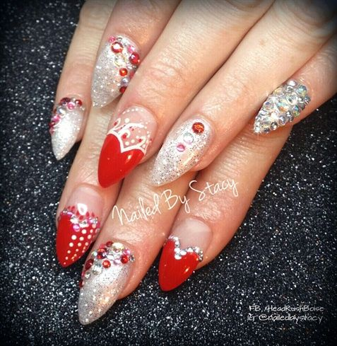 248 best nail art special techniques images on pinterest nail hearts of cupid by nailedbystacy from nail art gallery prinsesfo Images