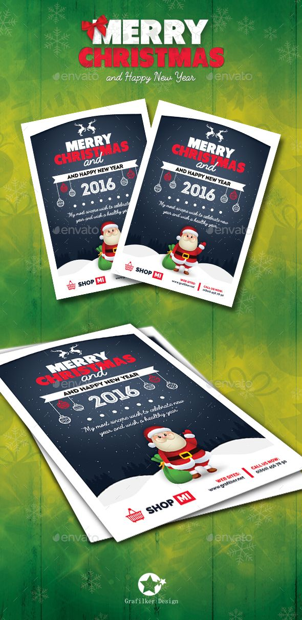 Christmas Flyer Template PSD #design #xmas Download: http://graphicriver.net/item/christmas-flyer-templates/13485303?ref=ksioks