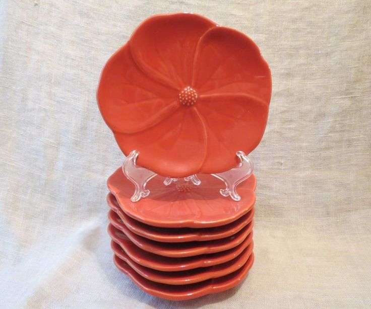 Cindy Crawford Style Orange Flower Figural Canape Plates (SET OF 7) & 22 best For the Home images on Pinterest | Confidence Dishes and ...