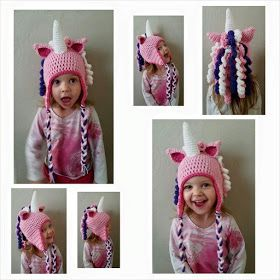 This is what came out of that: Crochet Unicorn Hat
