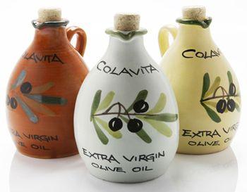 Colavita Extra Virgin Olive Oil Ceramic Jar - 1/4 liter #sautebetter