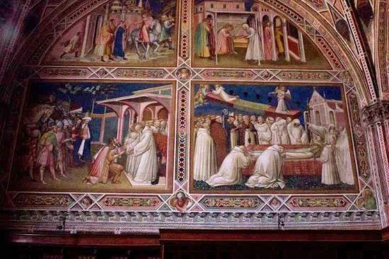 Basilica di San Miniato al Monte: Frescoes by Spinello Aretino in the Sacristy