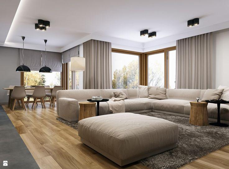 Projekt wnętrz domu w Miechowie. - zdjęcie od BEFORECONCEPT - Salon - Styl Minimalistyczny - BEFORECONCEPT