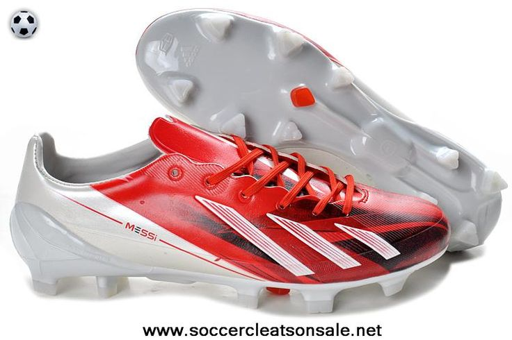 2014 Adidas F50 adizero TRX FG TPU LEA Bundle - Red White Soccer Boots For Sale