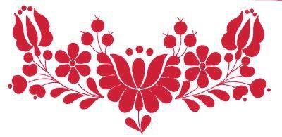 hungarian folk art as henna motif