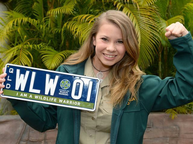 Bindi Irwin is backing the new wildlife warrior personalised number plate option.