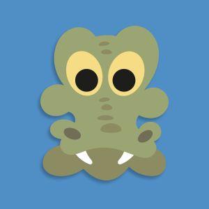 Printable Alligator Mask