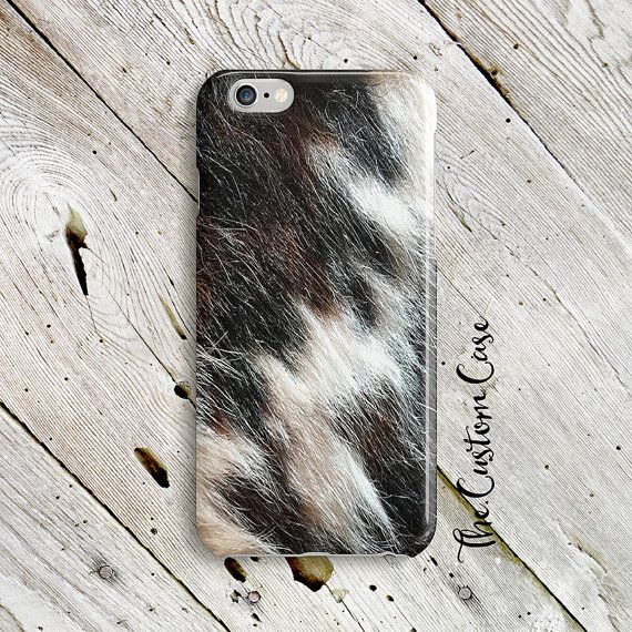 Cow Hide Phone Case Western Phone Case Cow Print by TheCustomCase