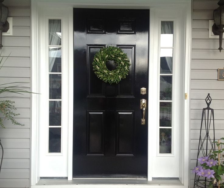 Black Painted Front Door + Lessons Learned to Get the Perfect Finish | by SnazzyLittleThings.com