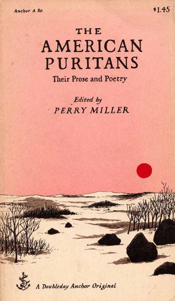 Poetry Book Cover Drawings : The american puritans their prose and poetry edited by