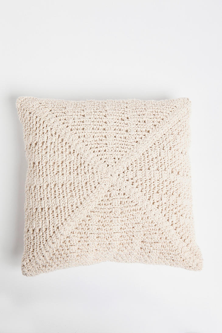 Crochet Square Pillow from Urban Outfitters