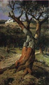 O Sobreiro, 1905, pintura de D. Carlos I.