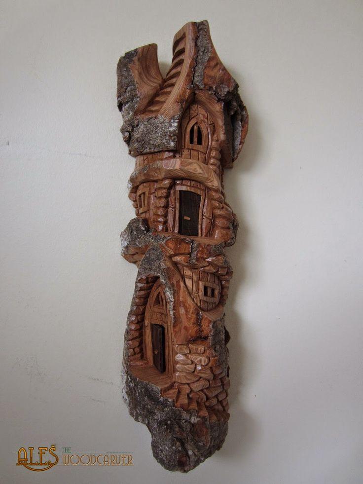 Best bark carving images on pinterest tree