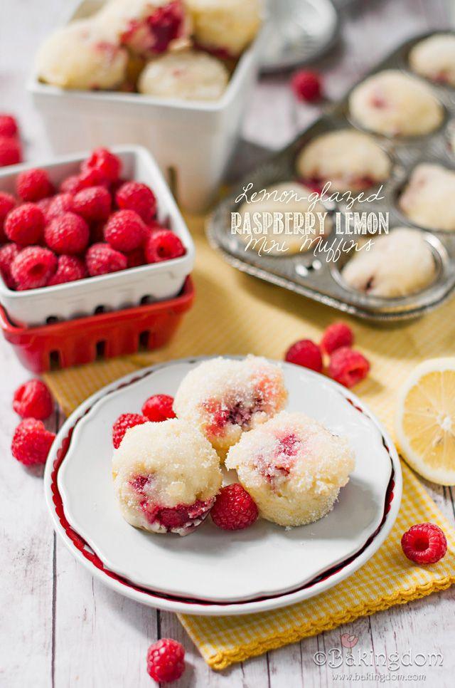 Lemon-glazed Raspberry Lemon Mini Muffins by ©Bakingdom