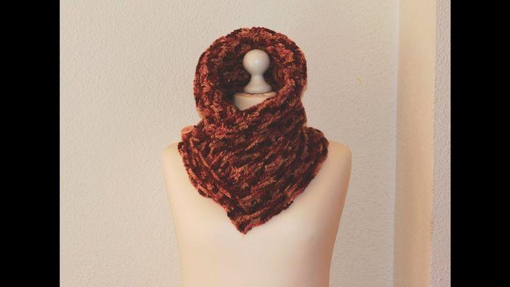 Como hacer bufanda de cuello con cadenas.