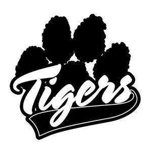 tiger paw design tigers paw print silhouette cameo
