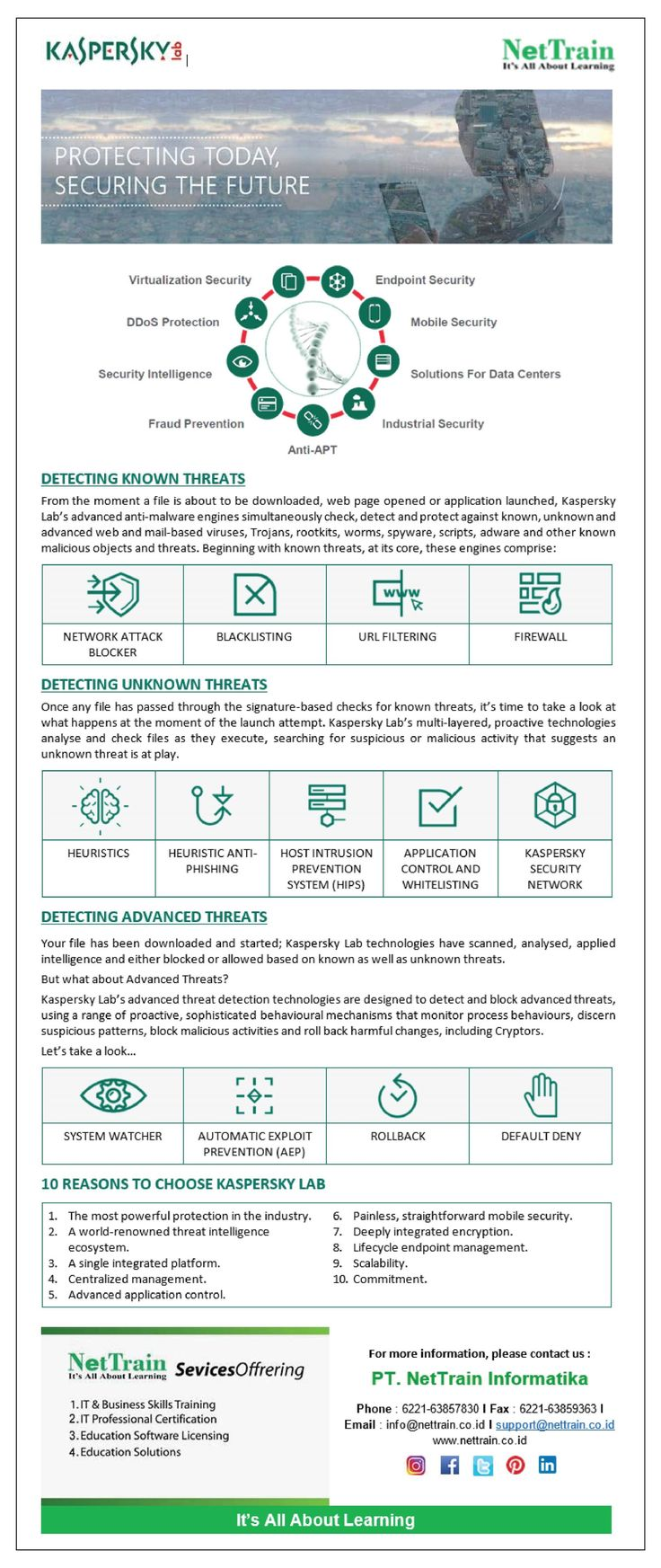 6 REASONS TO CHOOSE KASPERSKY LAB  1. The most powerful protection in the indust…