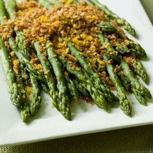 ... crumbs and lemon zest add a citrusy crunch atop your asparagus spears