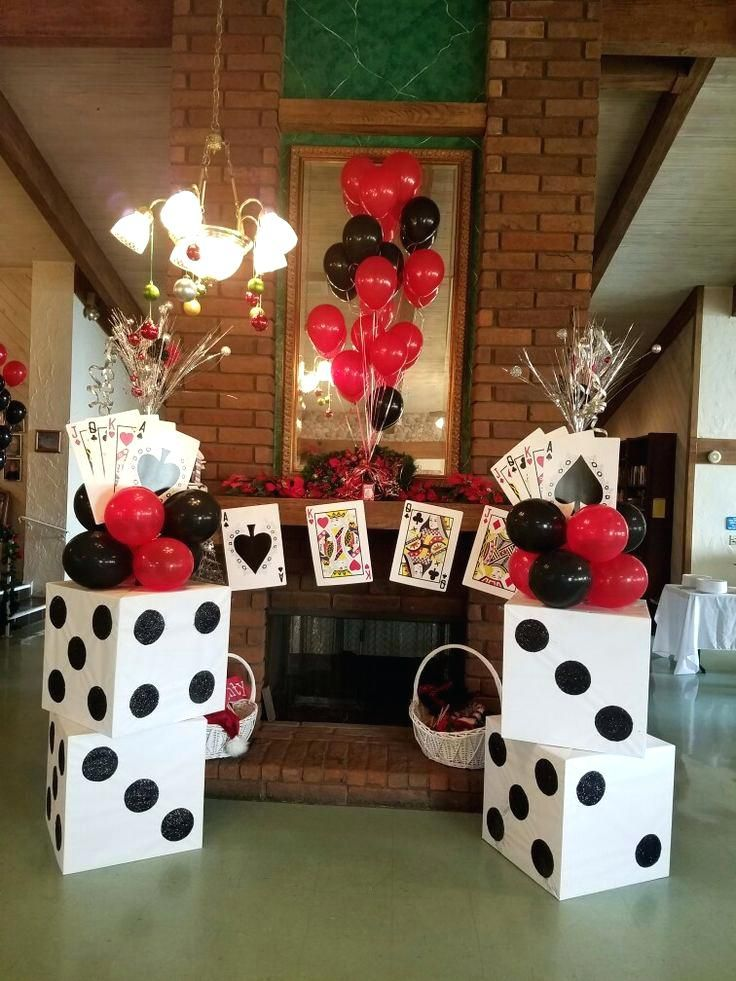 Casino Themed Centerpieces Ideas Birthday Decoration For Elders